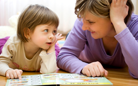 young girl verbal learning and parent training